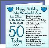 Son 50th Happy Birthday Card