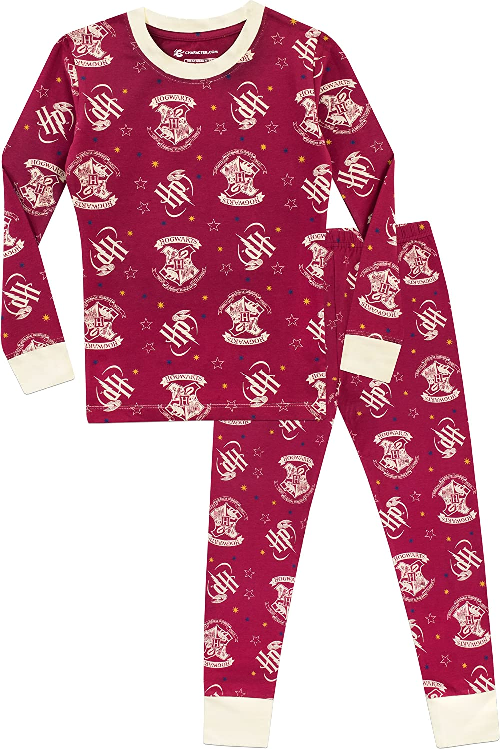 Harry Potter Girls Hogwarts Pyjamas Snuggle Fit