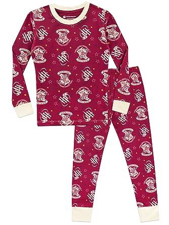 306caf3e596f6 Harry Potter Girls Hogwarts Pyjamas Snuggle Fit: Amazon.co.uk: Clothing
