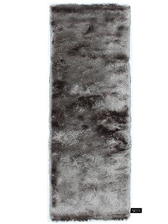 Läufer 80x300 benuta shaggy hochflor teppich whisper läufer grau 80x300 cm