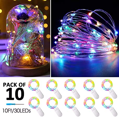 20 30 LED Micro Copper Wire String Battery Powered Fairy Light Xmas Party Decor