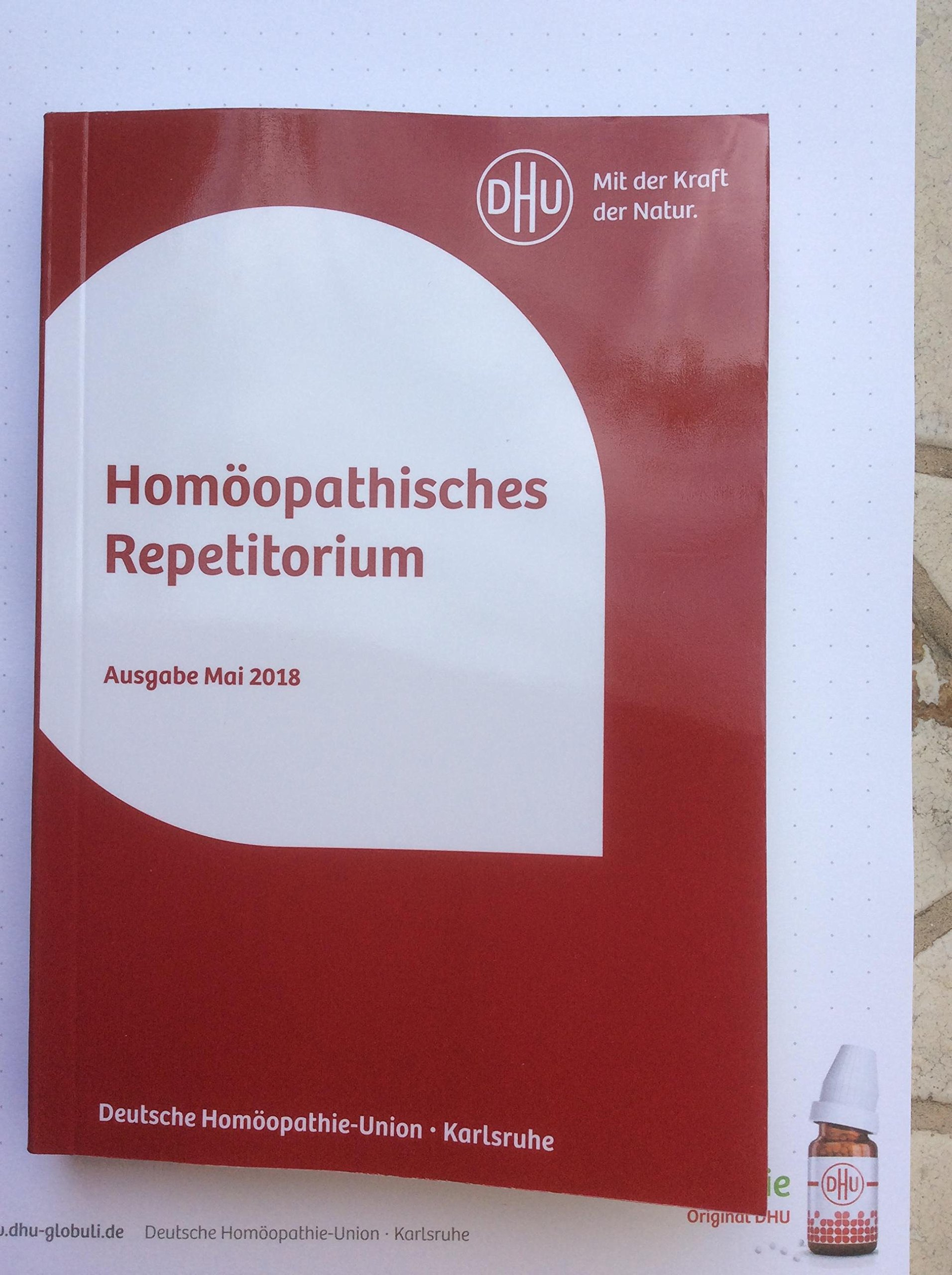 Homöopathisches Repetitorium: Arneimittellehre in Tabellenform