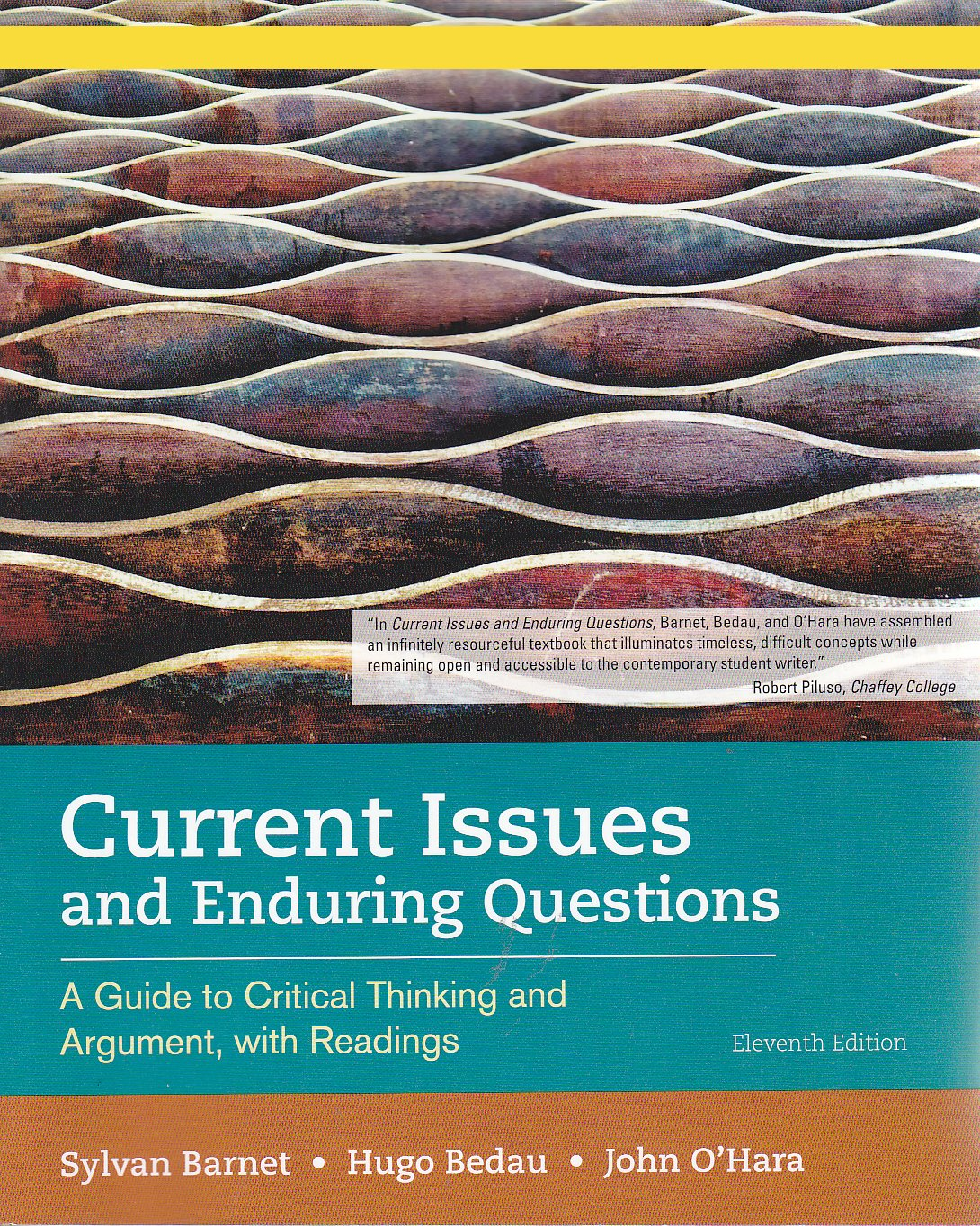 Current Issues and Enduring Questions - A Guide to Critical Thinking and  Argument, with Readings (Instructor Edition): 9781319075880: Amazon.com:  Books