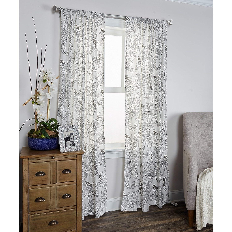 Arden Loft Mindwork 100/% Cotton Window Curtain Panel Gray 42 x 84