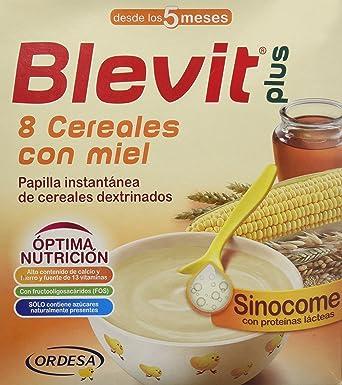 Blevit Plus Sinocome 8 Cereales con Miel - Paquete de 2 x 300 gr - Total