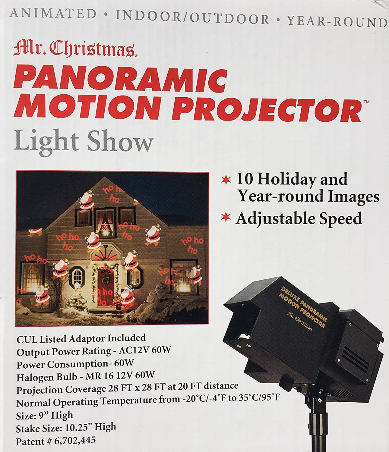 Mr Christmas Projector.Mr Christmas Panoramic Motion Projector 10 Holiday And Year Round Images With Adjustable Speeds