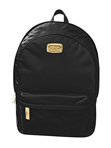 Michael Kors Jet Set Large Nylon Backpack with Leather Straps ... (Black) 5f9f394b88da8
