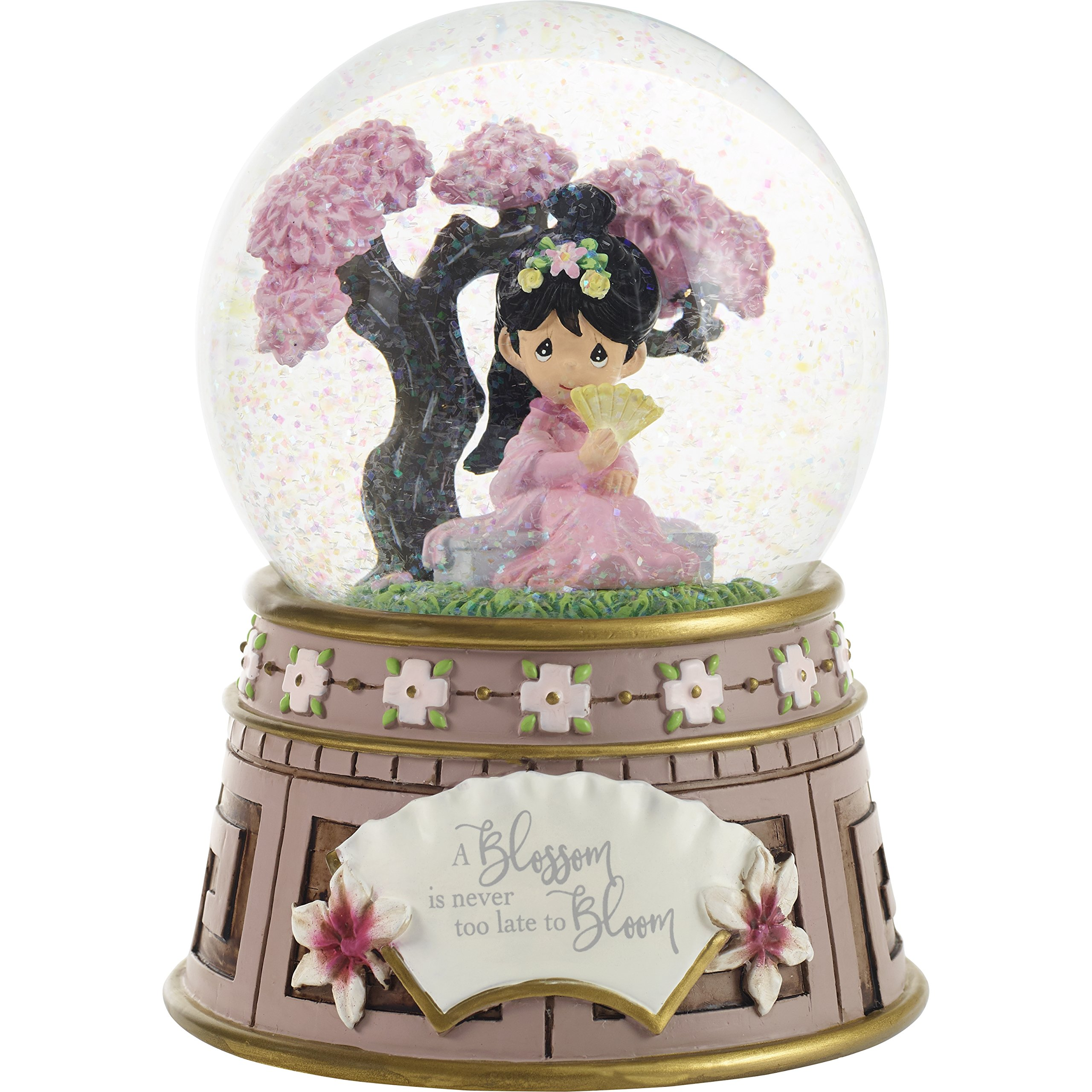 Precious Moments Company Disney Showcase Mulan A Blossom is Never Too Late to Bloom Resin Glass Show Globe 181101 Musical Waterball, One Size, Multi by Precious Moments
