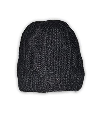 b24857e29b97e Image Unavailable. Image not available for. Color  Invisible World Women s  100% Alpaca Wool Hand Knit Cabled Beanie ...