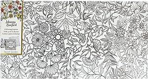 Art Alternatives Johanna Basford Secret Garden Coloring Canvas Floral Landscape