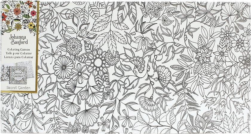 Amazon.com: Art Alternatives Johanna Basford Secret Garden Coloring Canvas  Floral Landscape: Arts, Crafts & Sewing