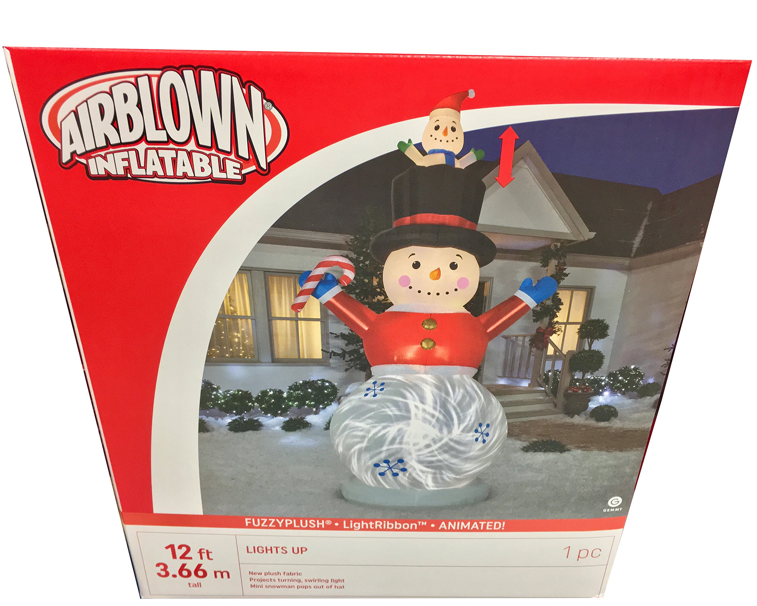 Gemmy Snowman with Animated Baby Snowman Indoor/Outdoor Holiday Decoration