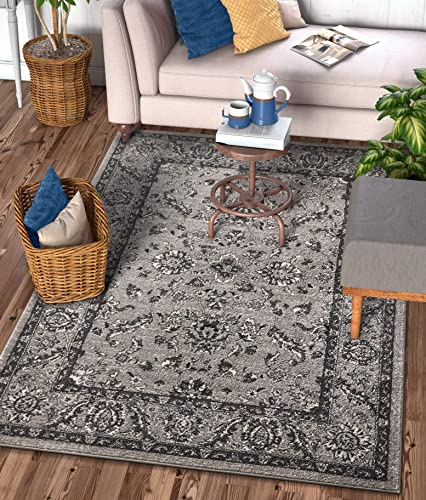 Well Woven Sydney Vintage Carleton Grey Traditional French Country Oriental Area Rug 9 3 x 12 6