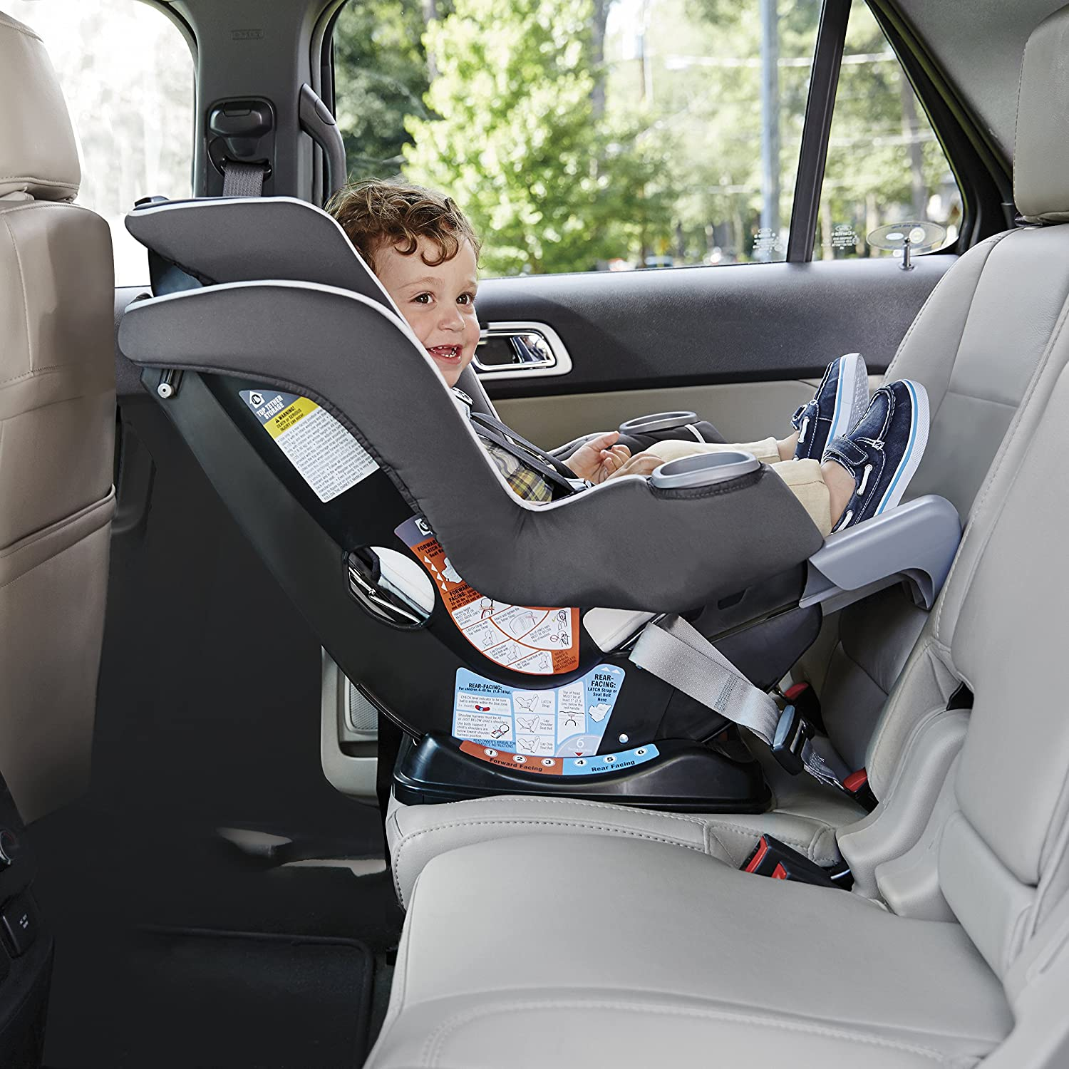 Graco Extend2Fit 3 In 1 Car Seat Featuring TrueShield Side Impact Protection Ion Baby 1992118