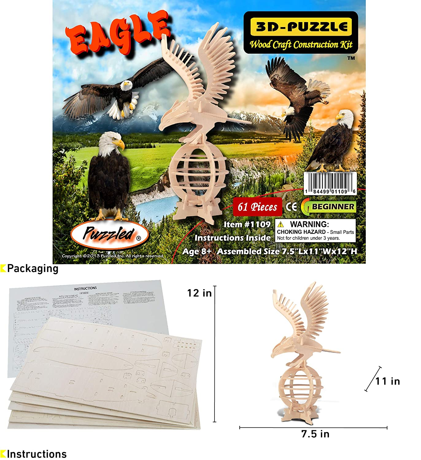 Eagle by Creatology Creatology Wooden 3D Puzzle
