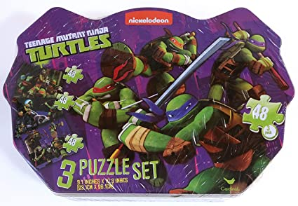 Ninja Turtles Teenage Mutant 3 Puzzle Set in Tin Box