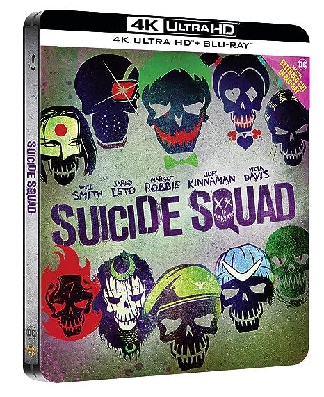 Suicide Squad - Steelbook Esclusiva Amazon Collectors Edition Blu-Ray + 4K Italia Blu-ray: Amazon.es: Margot Robbie, Will Smith, Jared Leto, Cara Delevigne, David Ayer, Margot Robbie, Will Smith: Cine y Series TV