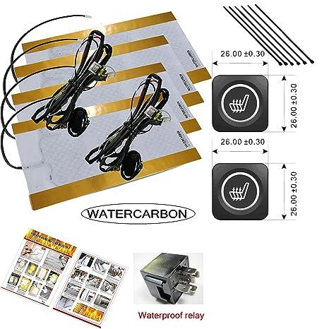 Water Carbon 3 archivos Solos Control Espacio Asiento Calefacción Interruptor Built-in Auto de asiento calefacción ...
