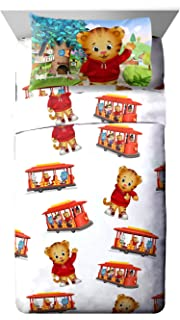 PBS Kids Daniel Tiger Trolley Ride 3 Piece White Twin Sheet Set