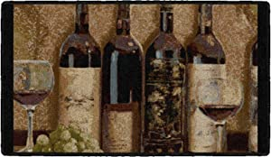 """Brumlow MILLS Wine Boutique Area Rug for Kitchen, Living or Dining Room, 20"""" x 34"""", Tan"""