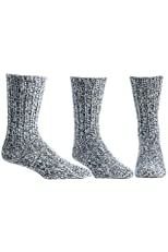 Thermal 74% Merino Wool Ragg Socks for Winter & Outdoor Hiking - 3 Pairs for Men and Women
