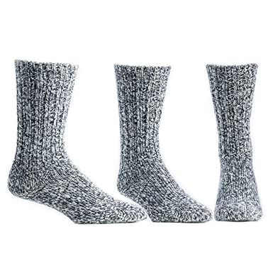 c8a6549a740b2 Ballston Unisex Thermal Merino Wool Ragg Socks for Winter & Outdoor Hiking  - 3 Pairs at Amazon Men's Clothing store: