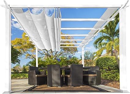 Paragon Outdoor PR11WTW Estructura de patio trasero suave con pérgola de Aspen de marco blanco, 11 x 11, Off: Amazon.es: Jardín