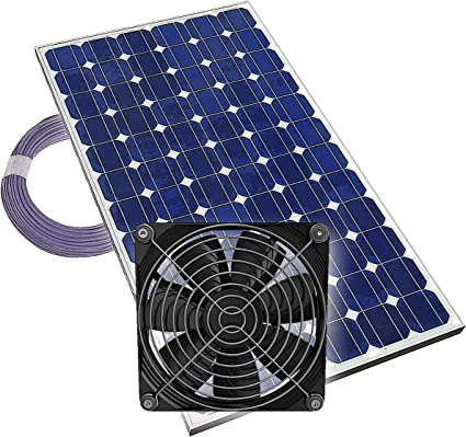 Details about  /20W12V Solarlüfter Solar Ventilator Lüfter Solarventilator Gewächshaus Belüftun
