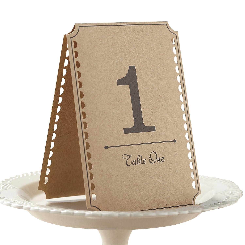 Wonderful Amazon.com: Ginger Ray Vintage Affair Kraft Wedding Table Numbers  ZN74