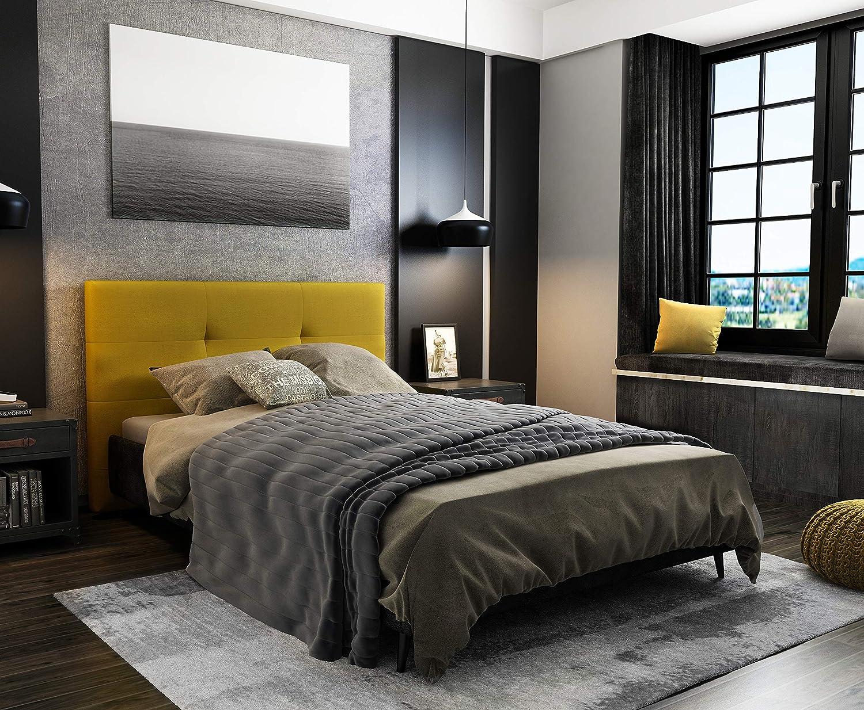Marckonfort Tête de lit Oslo 90 cm, capitonnée Tissu Grey Somos Venta  Online Boutique de noel 0a74d4d48334
