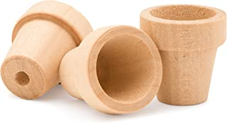 product image for Craft Flower Pot -1-1/2 Inches Tall and 1-5/8 Inch Wide at Opening -100 Pack - Unfinished Wood Flower Pot by Woodpeckers