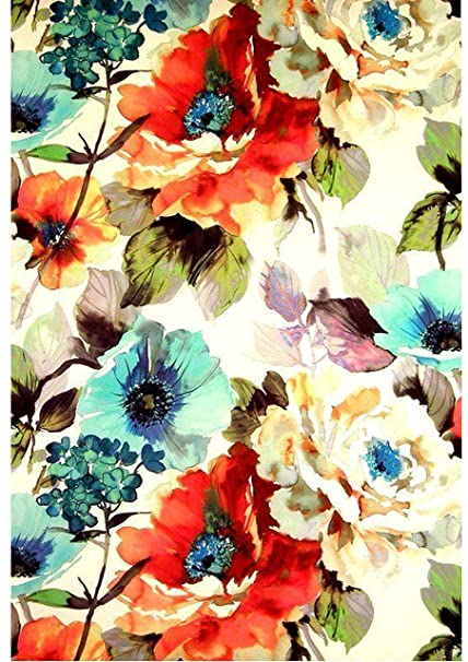Tb Vintage Poppy Flower Wallpaper Edible Decor Icing Sheet Cake Toppers Decorations