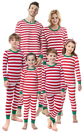 0e020bab64 Matching Family Christmas Boys Girls Pajamas Striped Kids Sleepwear  Children Clothes Men L