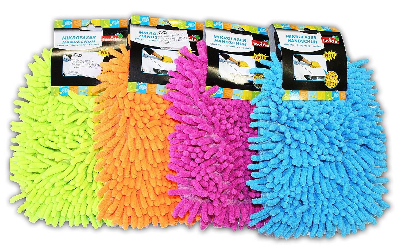 1stk. Microfaser Mikrofaser Handschuh Waschhandschuh