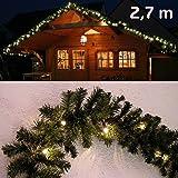 Abete ghirlanda illuminata lunghezza 270 centimetri con 40 LED