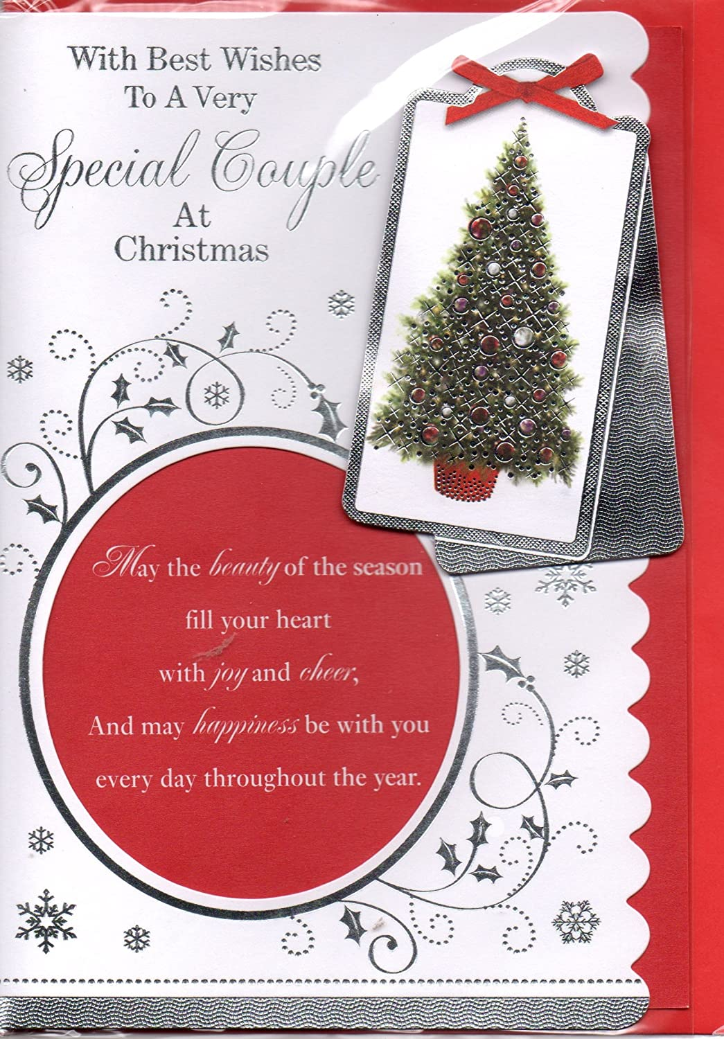 Special Couple Christmas Card With Best Wishes To A Very Special