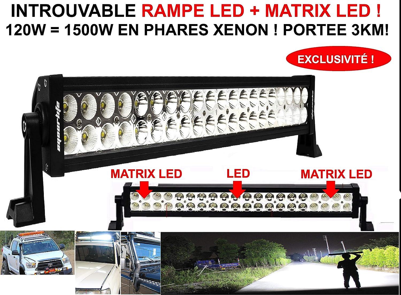 Exclusiva parrilla de faros LED + matriz LED, potencia 120 W ...