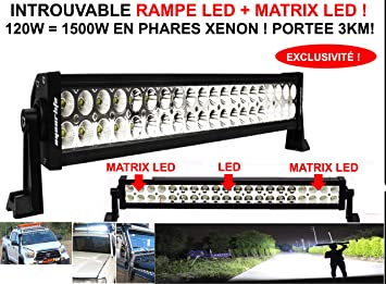 Exclusiva parrilla de faros LED + matriz LED, potencia 120 W ...