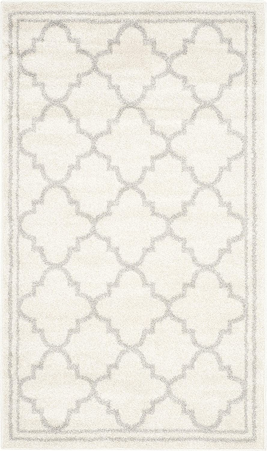 Safavieh Amherst Collection AMT422E Beige and Light Grey Area Rug, 3 feet by 5 feet (3' x 5')