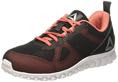5a2f517d7 Reebok Girls Super Lite Jr Coal Fire Coral Slvr Wht Sports Shoes -