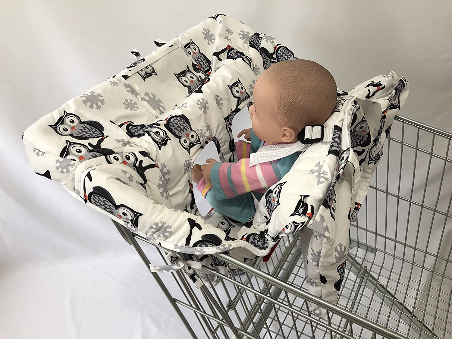 OWL and Elephant Printed Baby Shopping cart Cover (Elephant) SEALOVESFLOWER
