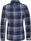 Mountain Designs 女式珍珠海羊毛长袖格子衬衫