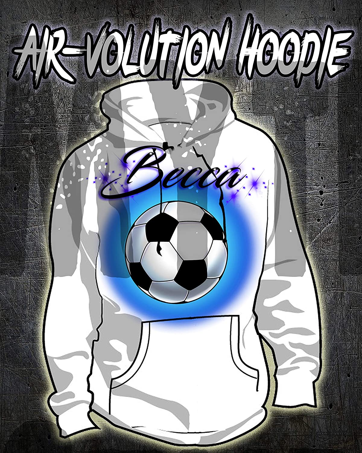 Personalized Airbrush Soccer Ball Hoodie