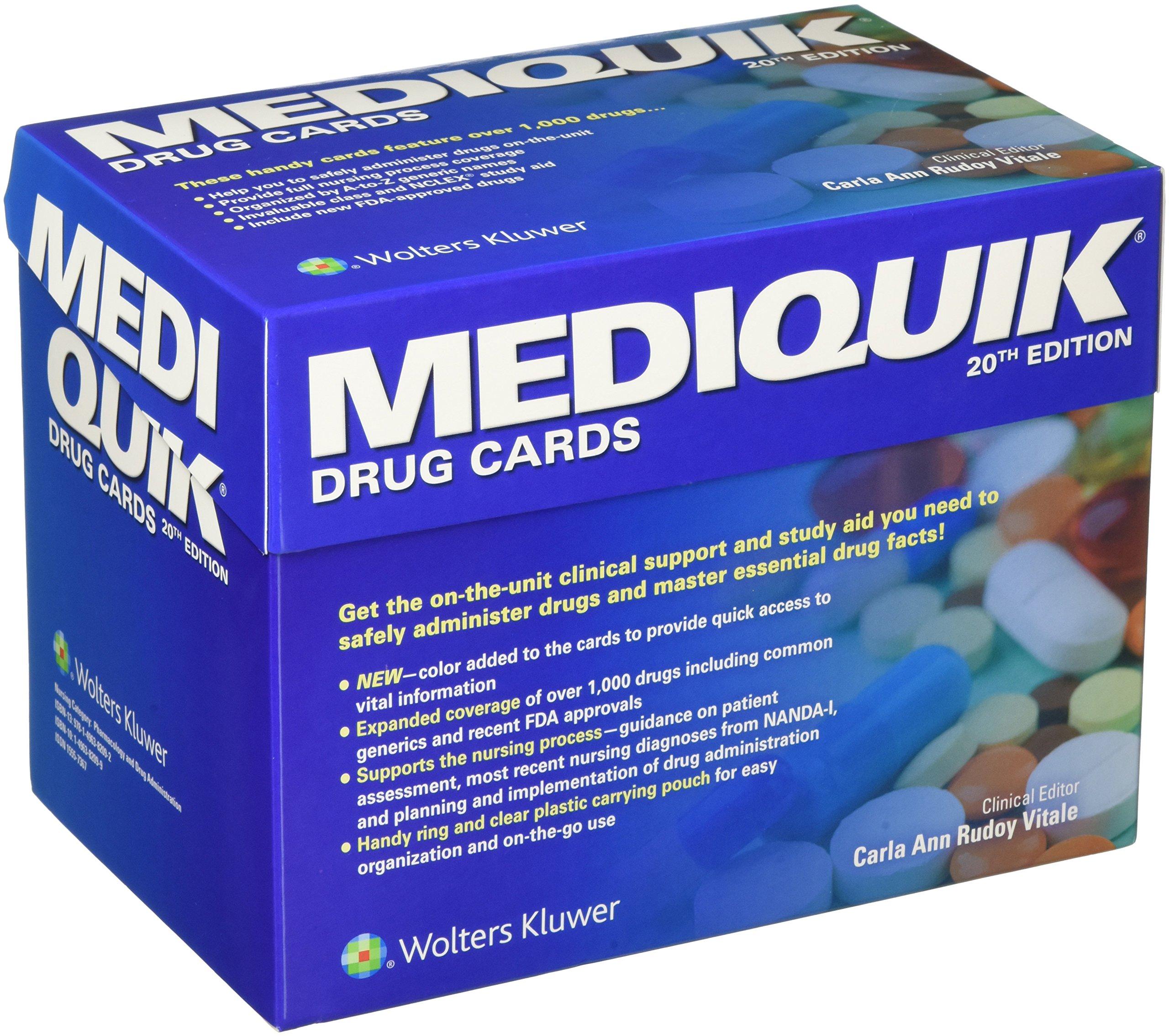 MediQuik Drug Cards by LWW