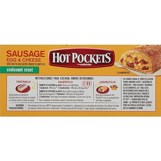 Hot Pockets Frozen Sandwiches Sausage, Egg & Cheese, 22.5 oz ...