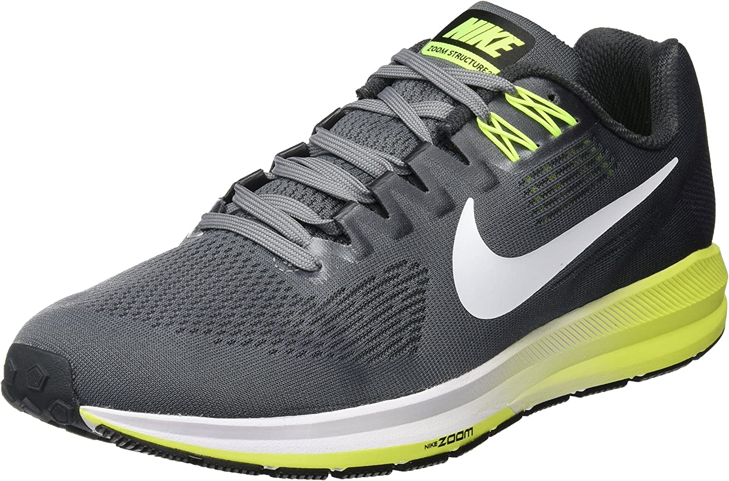 Nike Men s Air Zoom Structure 21 Running Shoe Cool Grey White-Anthracite-Volt 12.0
