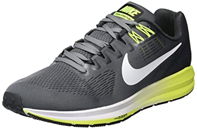 c3b083db0129 Nike Men s Air Zoom Structure 21 Running Shoe Cool  Grey White-Anthracite-Volt