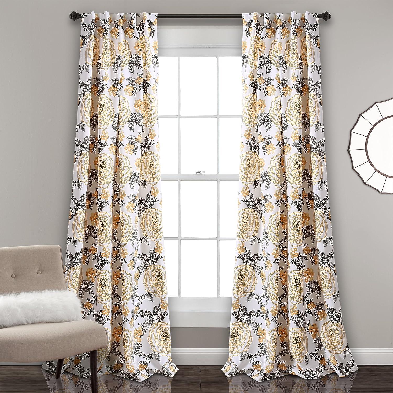 Lush Decor Aromo Garden Room-Darkening Curtains, Window Curtain Panels, 84