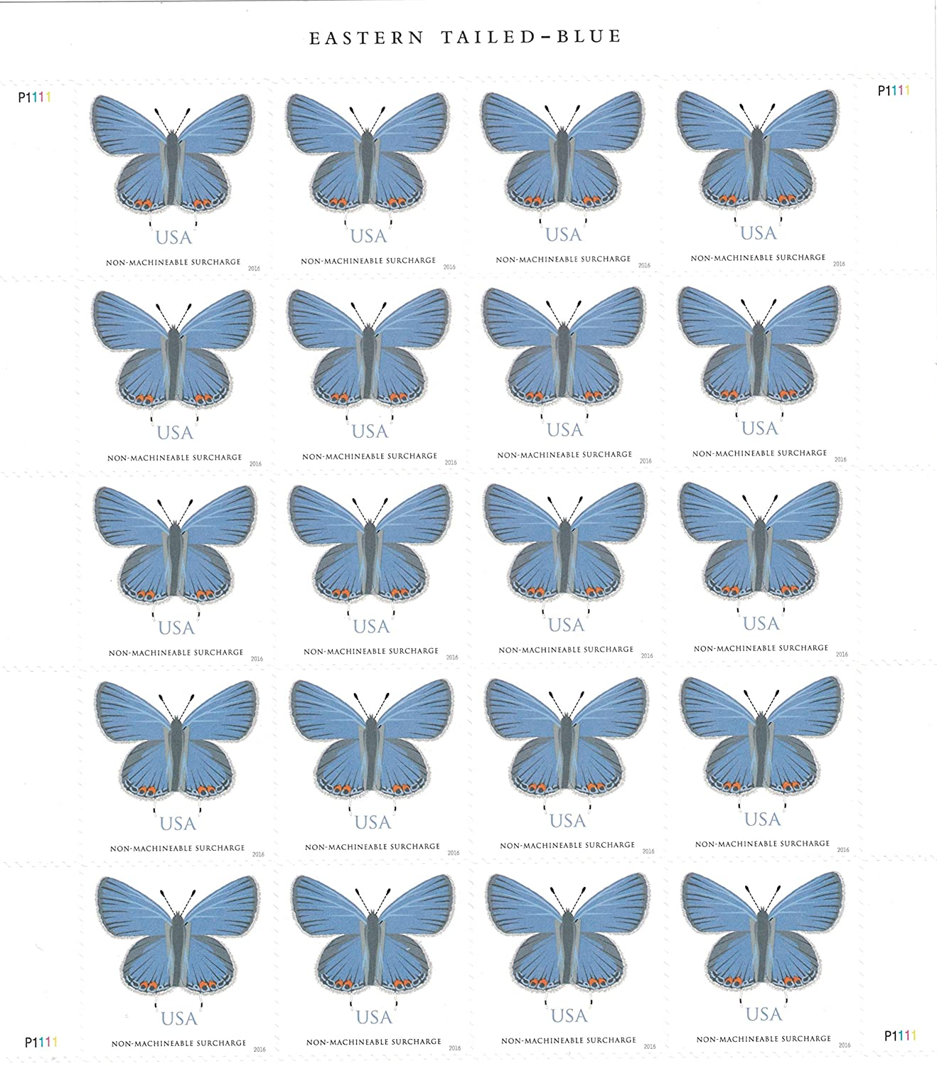 Amazon.com : USPS Eastern Tailed-Blue - 5 Sheets of 20 stamps (two ...