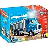 Playmobil 5026 remorque surbaiss e avec wheel loader - Camion toupie playmobil ...